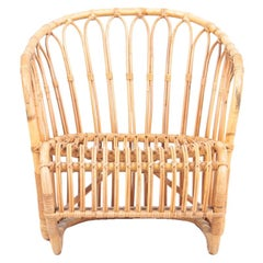 Lounge Chair in Bamboo by Tove & Edvard Kindt-Larsen, 1940s