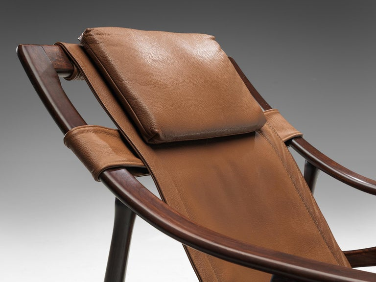 Lounge Chair in Brazillian Walnut by Liceu De Artes Sao Paulo For Sale 3