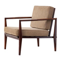 Lounge Chair in Rosewood with Beige Upholstery by Fatima, circa 1960