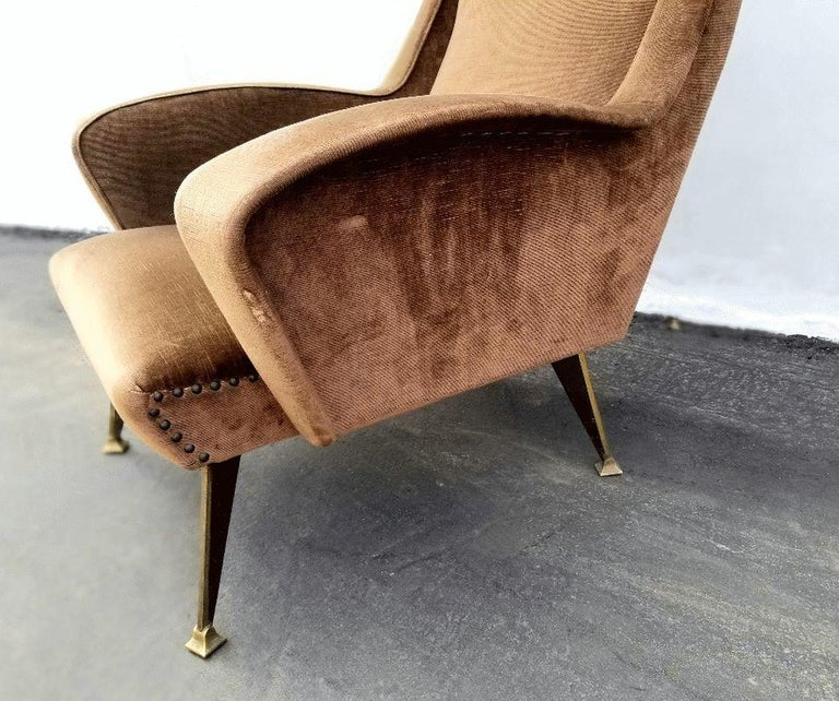 Mid-Century Modern Lounge Chair, Italy, 1950s For Sale