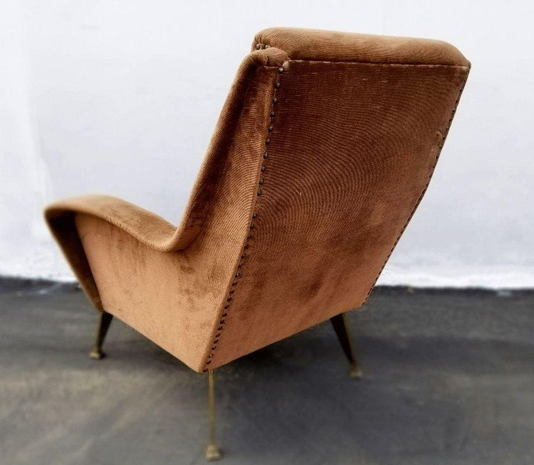 Italian Lounge Chair, Italy, 1950s For Sale