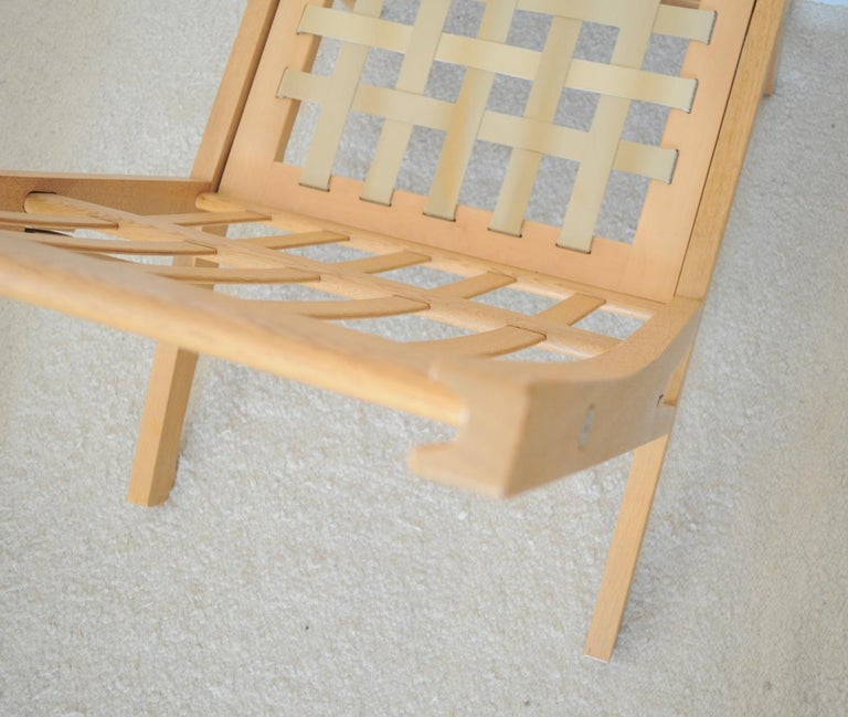 Lounge Chair Made of Oak Designed in 1969 by Hans J. Wegner, Produced by GETAMA For Sale 4