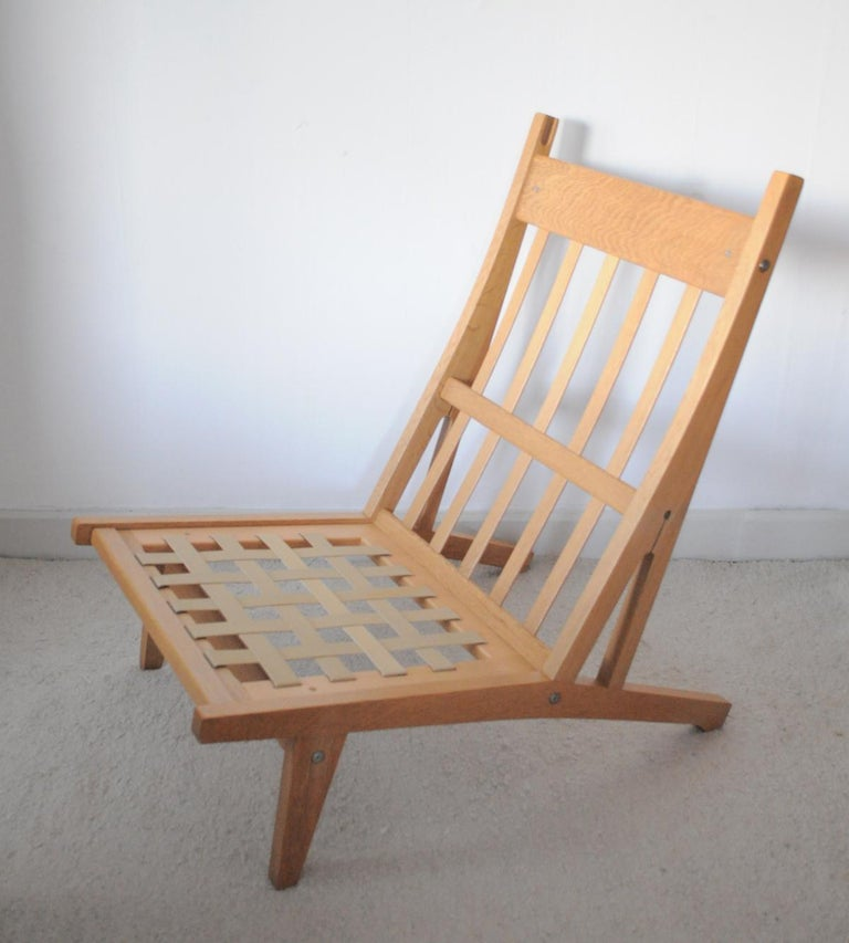 Lounge Chair Made of Oak Designed in 1969 by Hans J. Wegner, Produced by GETAMA For Sale 8