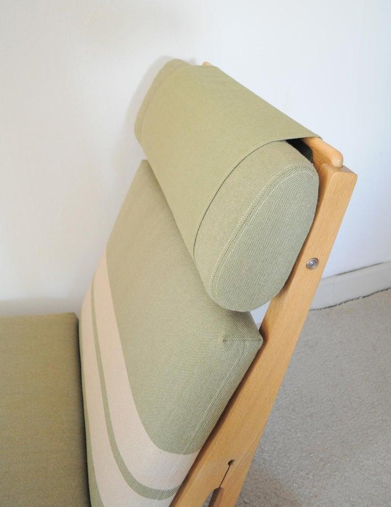 Scandinavian Modern Lounge Chair Made of Oak Designed in 1969 by Hans J. Wegner, Produced by GETAMA For Sale