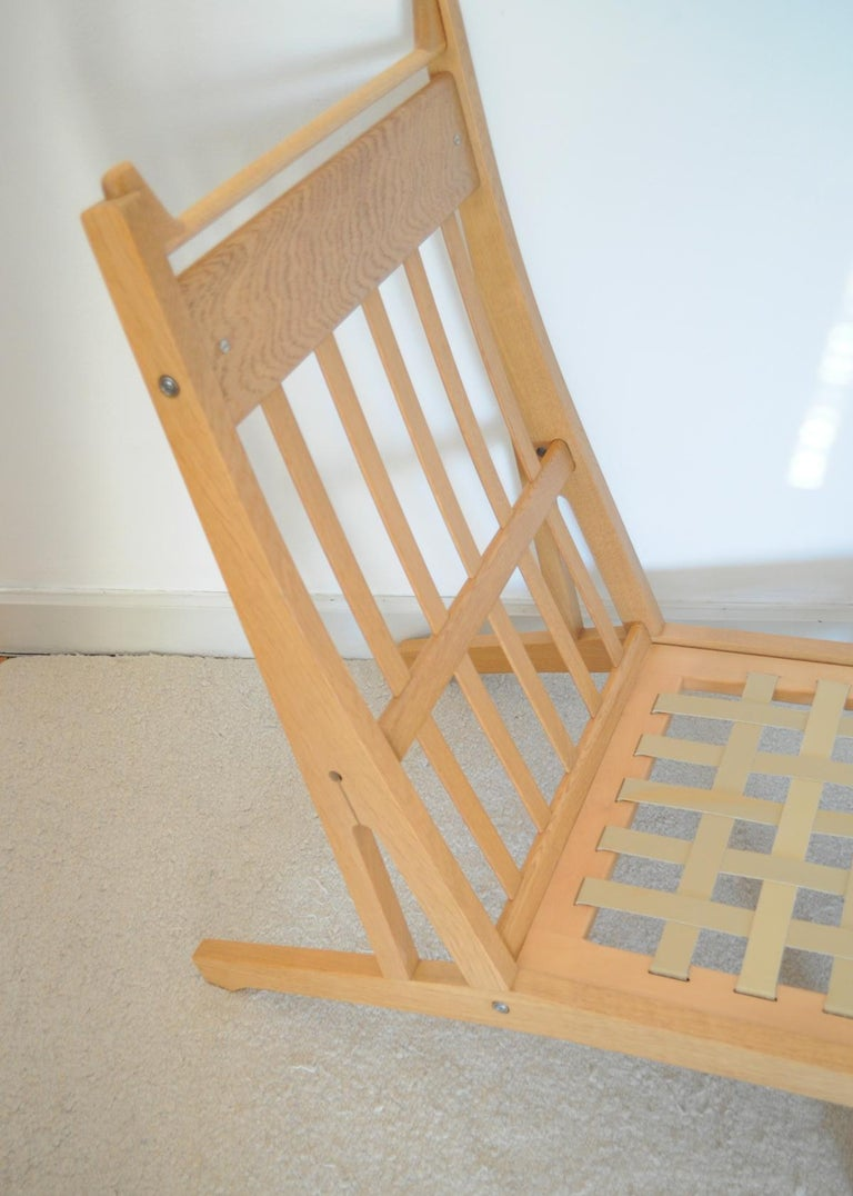 Lounge Chair Made of Oak Designed in 1969 by Hans J. Wegner, Produced by GETAMA For Sale 3