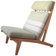 Lounge Chair Made of Oak Designed in 1969 by Hans J. Wegner, Produced by GETAMA