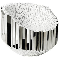 Lounge Chair 'My Collection' by Michael Young Stainless Steel and Resin White