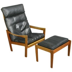 Lounge Chair and Ottoman by Illum Wikkelsø, circa 1960s
