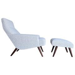 Lounge Chair & Ottoman, circa 1960