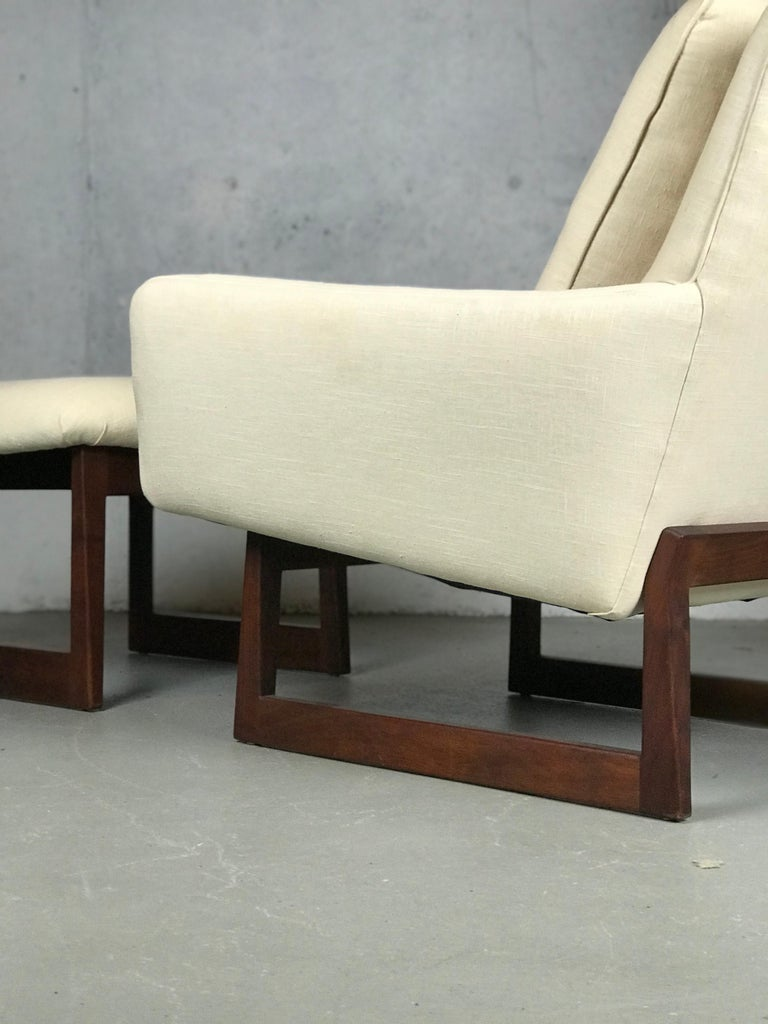 Lounge Chair and Ottoman Designed by Jens Risom For Sale 1