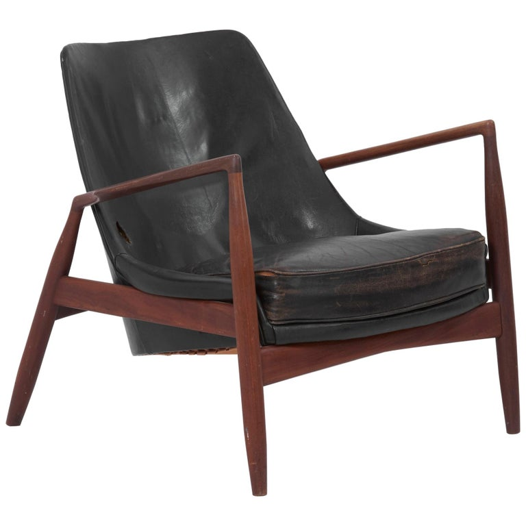 Lounge Chair Seal 'Sälen', Model 503-799 by Ib Kofod-Larsen for OPE Olof Persson For Sale