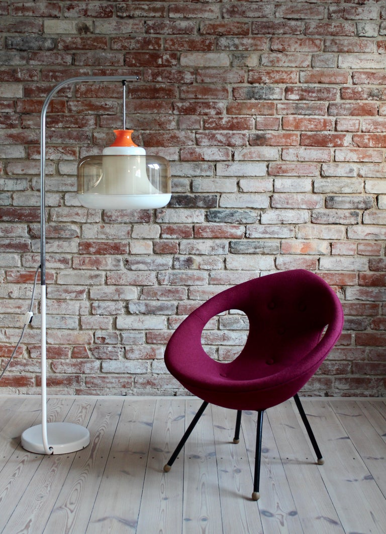 Lounge Chair, UFO, Reupholstered in Kvadrat Fabric, Space Age, Midcentury For Sale 6