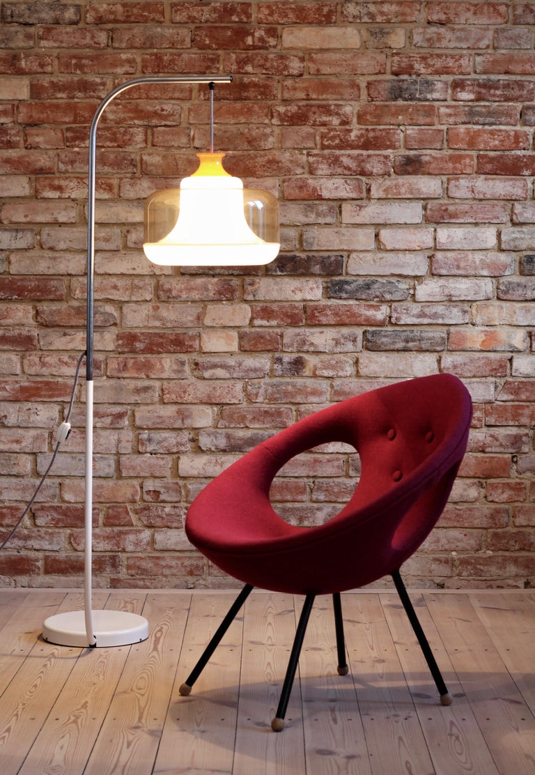 Lounge Chair, UFO, Reupholstered in Kvadrat Fabric, Space Age, Midcentury For Sale 7