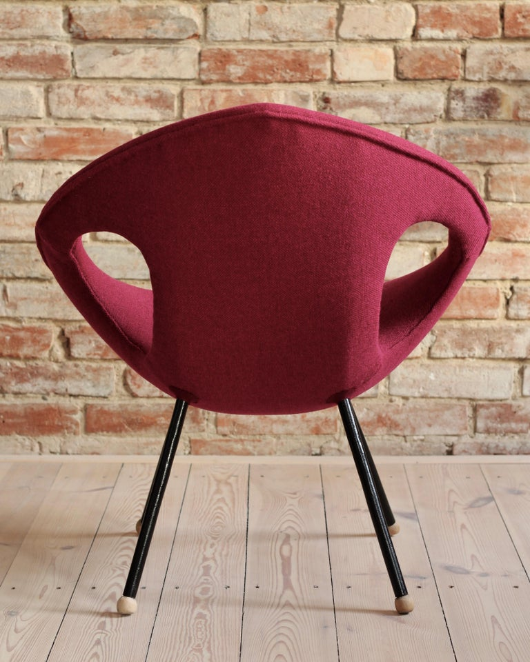 Lounge Chair, UFO, Reupholstered in Kvadrat Fabric, Space Age, Midcentury For Sale 1