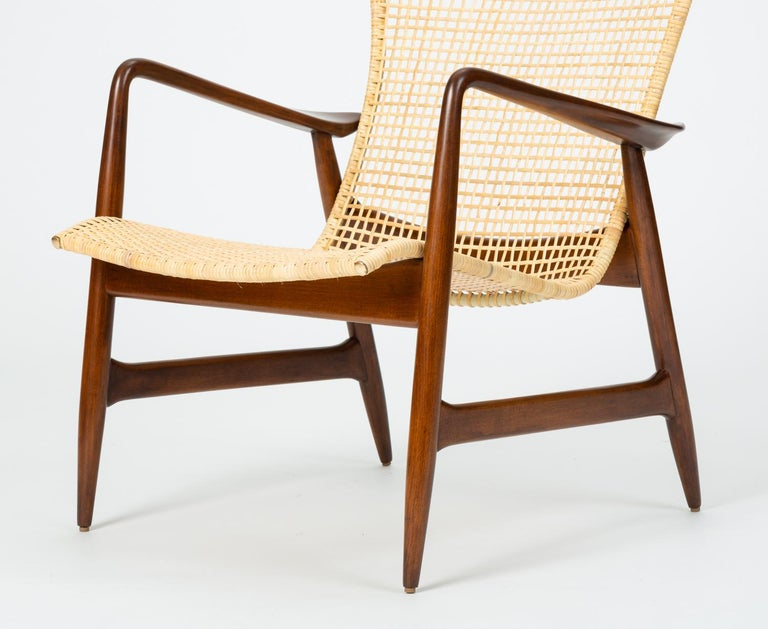 Lounge Chair with Cane Seat by Ib Kofod-Larsen for Selig 2