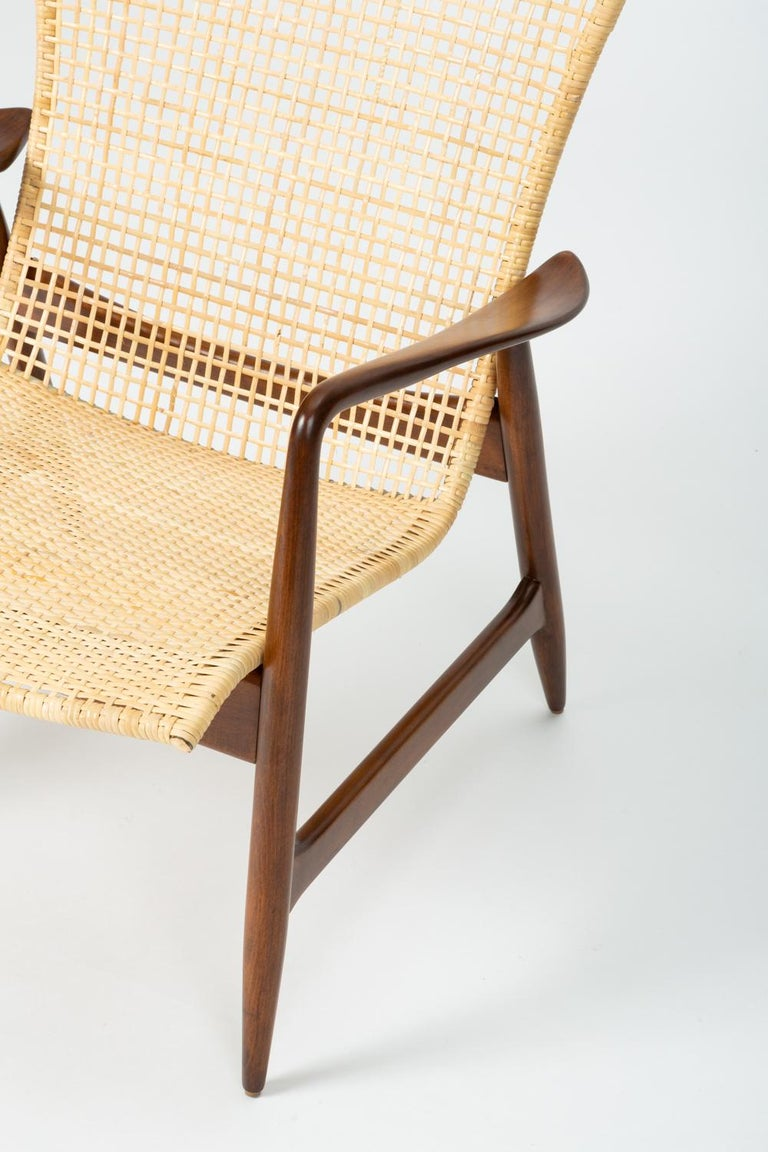 Lounge Chair with Cane Seat by Ib Kofod-Larsen for Selig 3