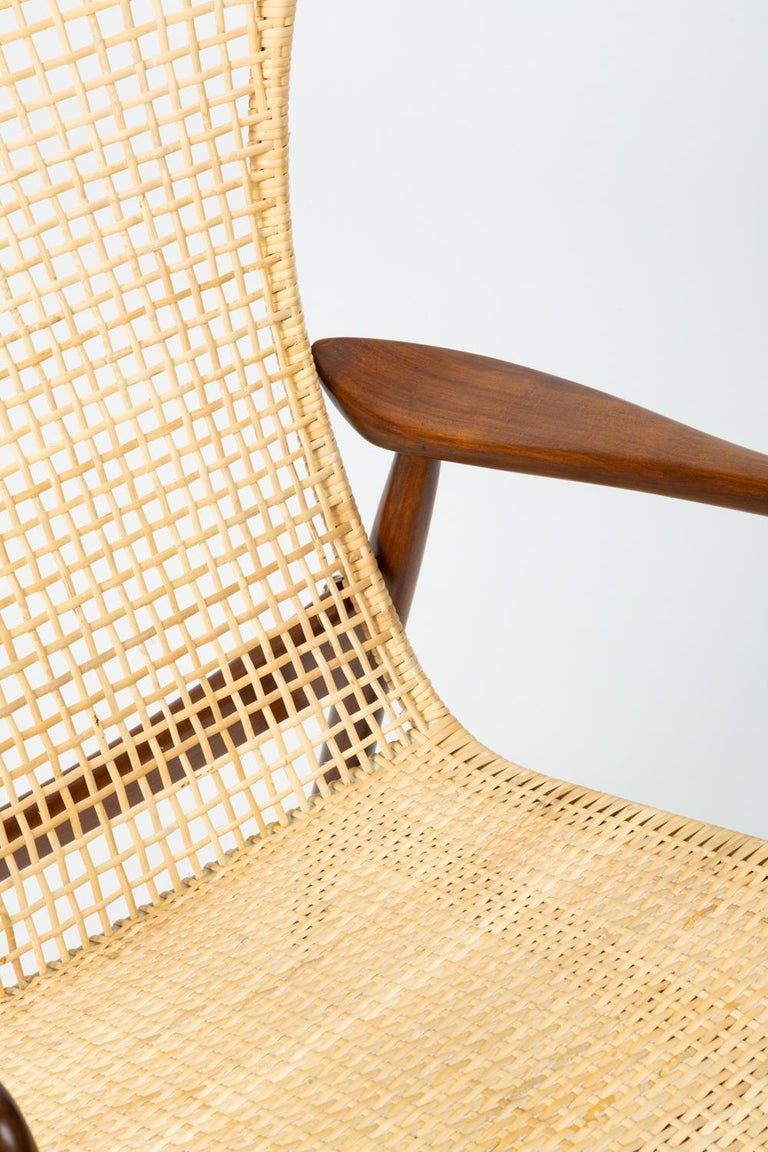 Lounge Chair with Cane Seat by Ib Kofod-Larsen for Selig 4