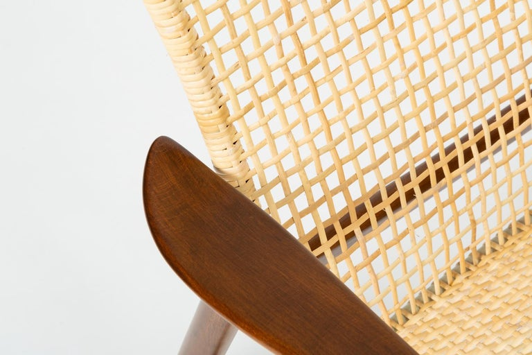 Lounge Chair with Cane Seat by Ib Kofod-Larsen for Selig 5
