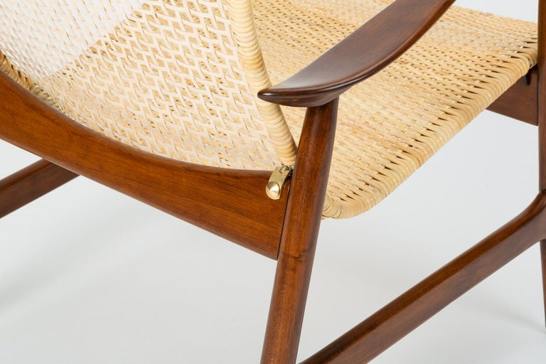Lounge Chair with Cane Seat by Ib Kofod-Larsen for Selig 6