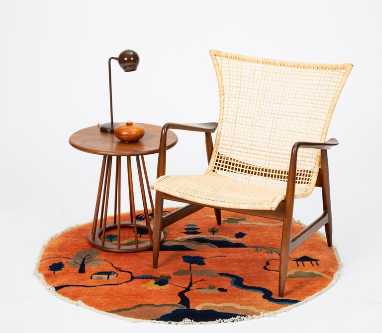 Lounge Chair with Cane Seat by Ib Kofod-Larsen for Selig 7