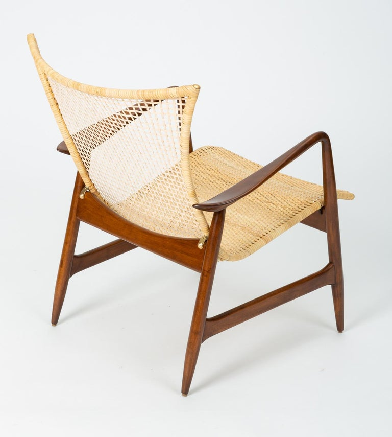 20th Century Lounge Chair with Cane Seat by Ib Kofod-Larsen for Selig