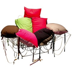 Lounge Chair with Colorful Upholstery by Austrian Artist Gilbert Bretterbauer