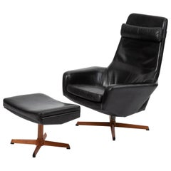 Lounge Chair with Ottoman by Ib Madsen & Acton Schübell for Madsen & Schübell