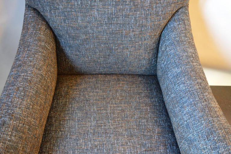 American Lounge Chair with Ottoman For Sale