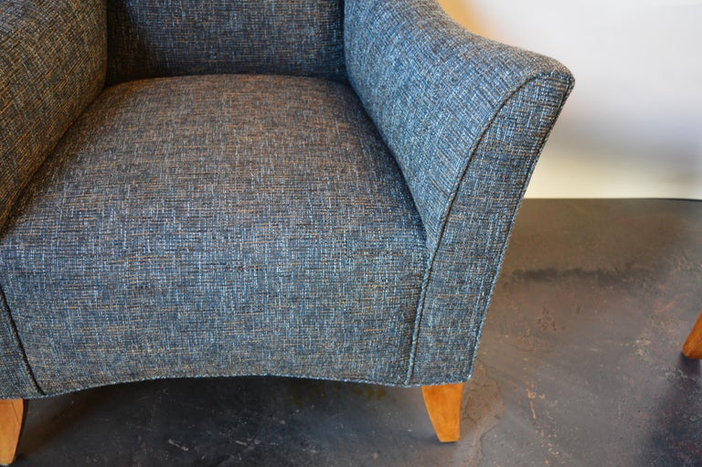 Late 20th Century Lounge Chair with Ottoman For Sale