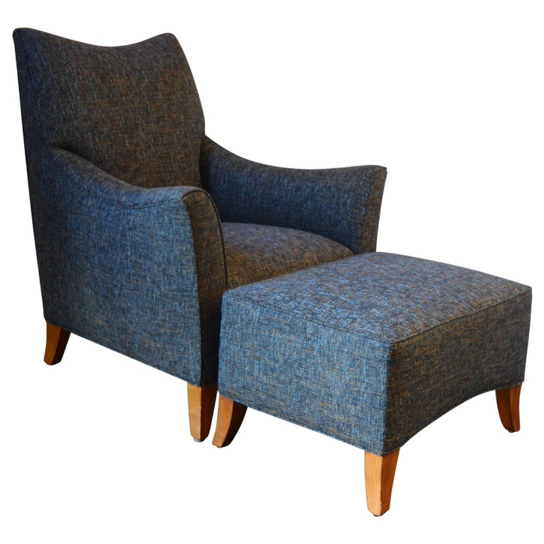 Lounge Chair with Ottoman For Sale