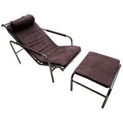 Lounge Chair with Ottoman «Genni» by Gabriele Mucchi, circa 1975