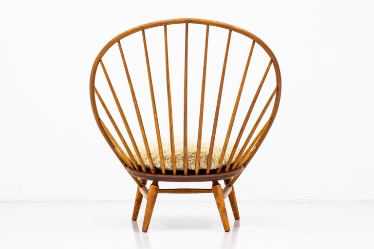 Lounge Chair with Sheep Skin Seat by Engström & Myrstrand, Sweden, 1950s For Sale 3