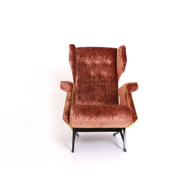 Mid-Century Modern Lounge Chair, Italy, Mid-20th Century For Sale
