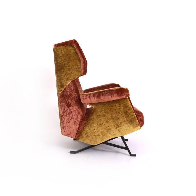 Italian Lounge Chair, Italy, Mid-20th Century For Sale
