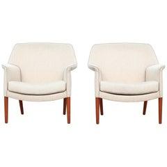 Lounge Chairs Aksel Bender Madsen & Ejner Larsen for Fritz Hansen, 1950s