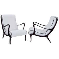 Lounge Chairs Attributed to Ezio Longhi, Italy, 1950s