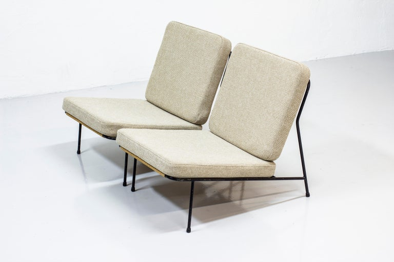 Scandinavian Modern Lounge Chairs by Alf Svensson for Ljungs Industrier, Sweden, Midcentury, 1950s For Sale
