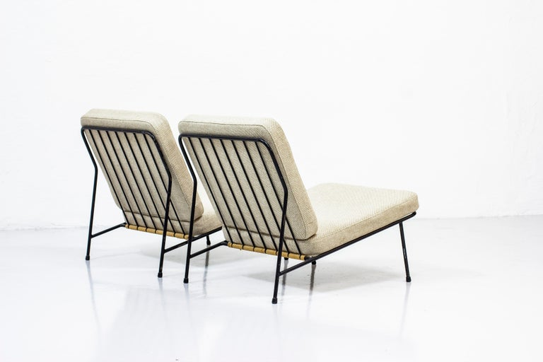 Swedish Lounge Chairs by Alf Svensson for Ljungs Industrier, Sweden, Midcentury, 1950s For Sale