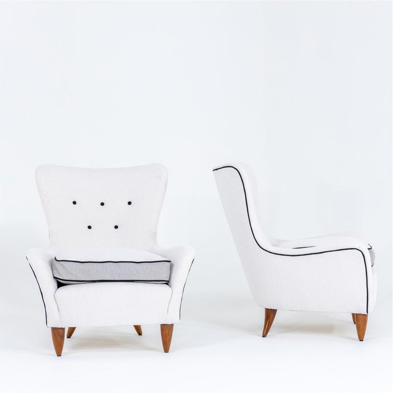 Mid-Century Modern Lounge Chairs by Brambilla, Italy, 1950s For Sale