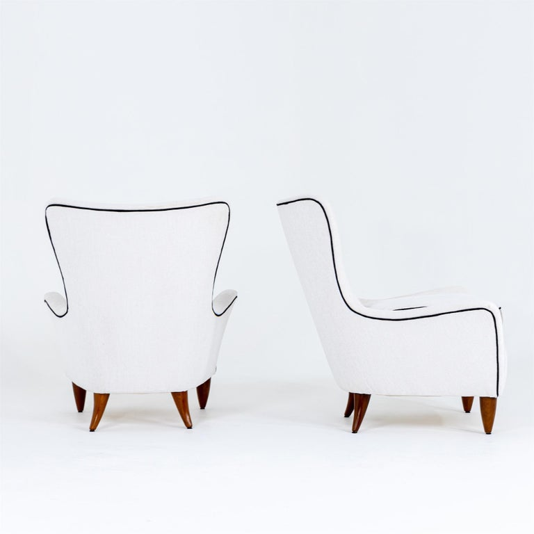 Cherry Lounge Chairs by Brambilla, Italy, 1950s For Sale