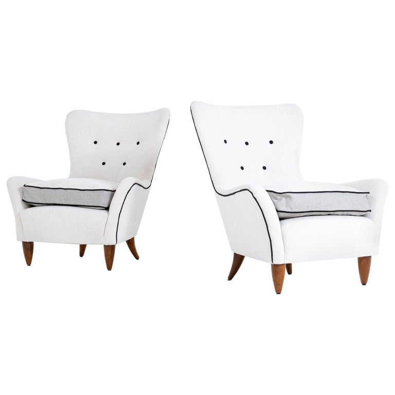 Lounge Chairs by Brambilla, Italy, 1950s For Sale