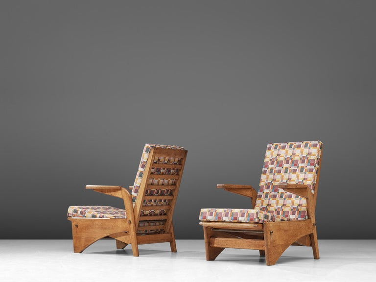 Mid-Century Modern  Pair of Lounge Chairs by Gustave Gautier For Sale