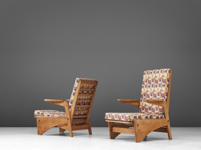 French  Pair of Lounge Chairs by Gustave Gautier For Sale