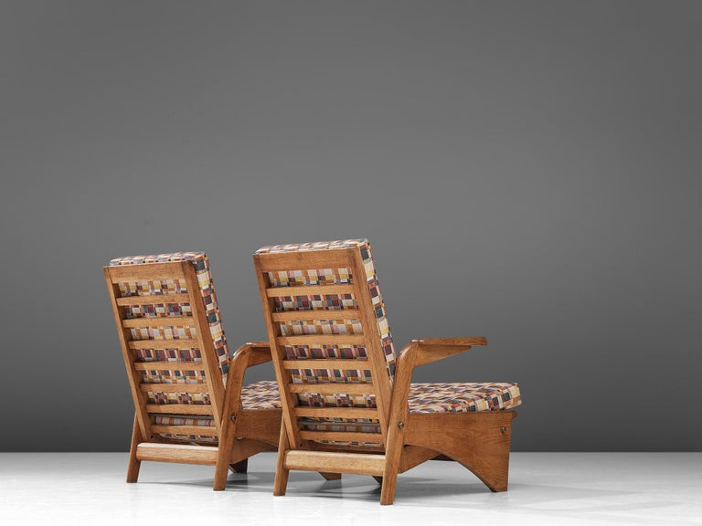 Pair of Lounge Chairs by Gustave Gautier In Good Condition For Sale In Waalwijk, NL