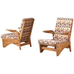 Pair of Lounge Chairs by Gustave Gautier