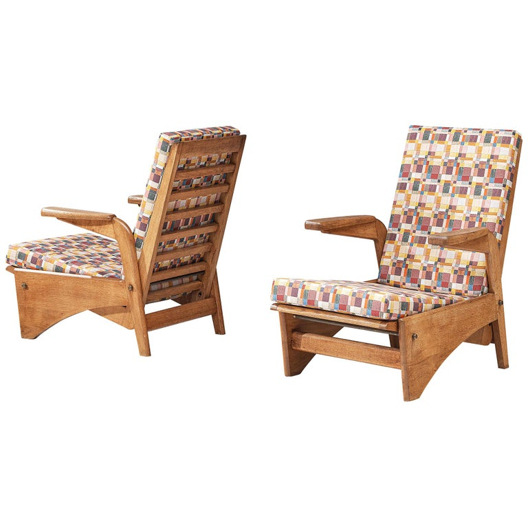 Pair of Lounge Chairs by Gustave Gautier For Sale