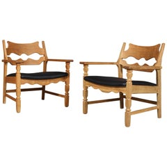 Lounge Chairs by Henning Kjærnulf