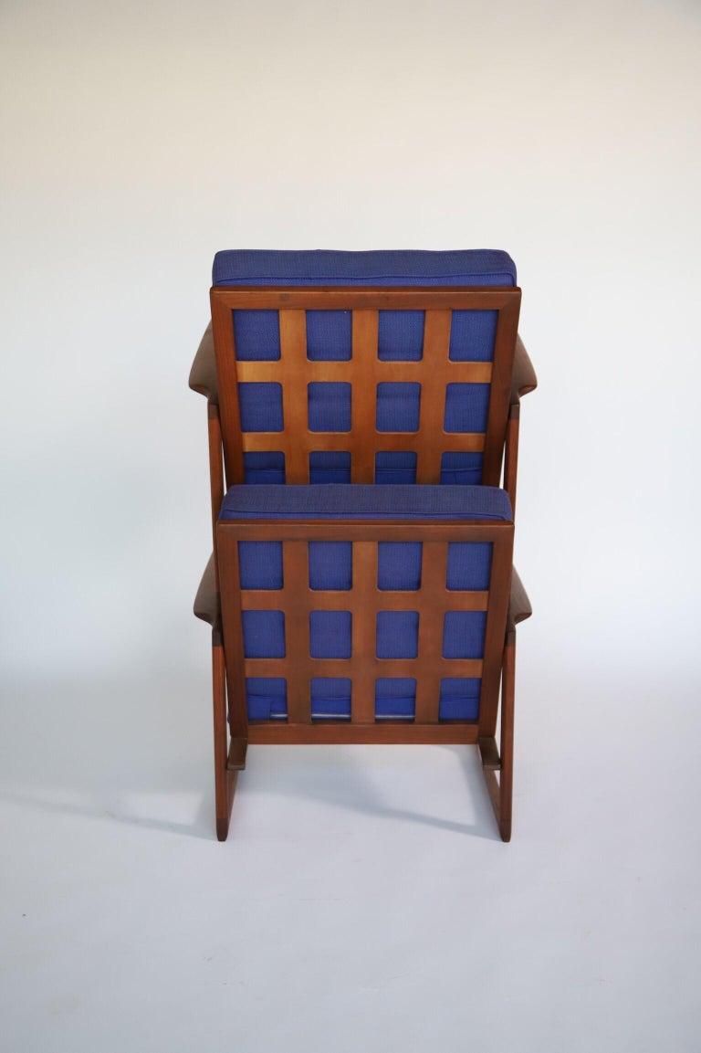 Walnut Lounge Chairs by Ib Kofod Larsen For Sale