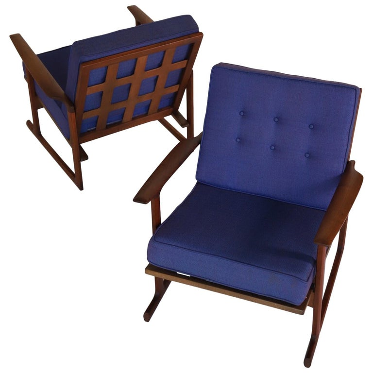 Lounge Chairs by Ib Kofod Larsen For Sale