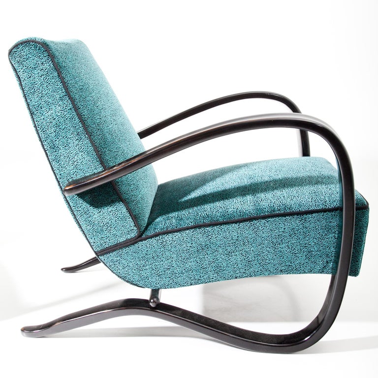 Mid-20th Century Lounge Chairs by J. Halabala, Czech Republic, 1930s For Sale
